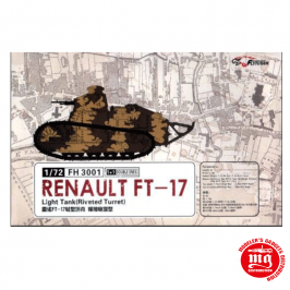 RENAULT FT-17 LIGHT TANK RIVETED TURRET FLYHAWK FH 3001
