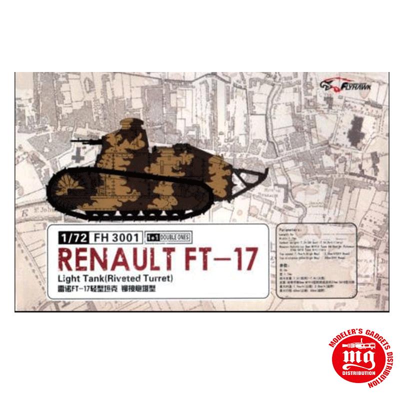RENAULT FT-17 LIGHT TANK RIVETED TURRET FLYHAWK FH 3001
