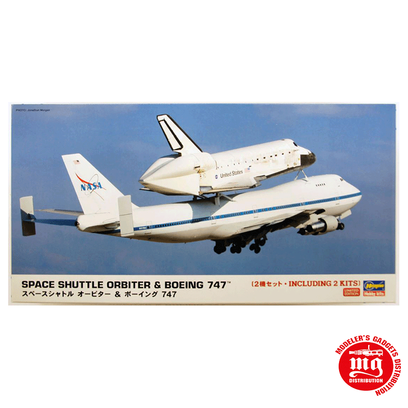 SPACE SHUTTLE ORBITER AND BOEING 747 HASEGAWA 10680