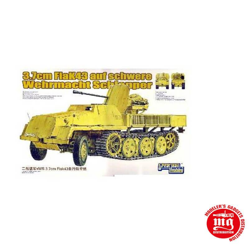 3.7 cm FLAK43 AUF SCHWERE WEHRMACHT SCHLEPPER GREAT WALL HOBBY L3516
