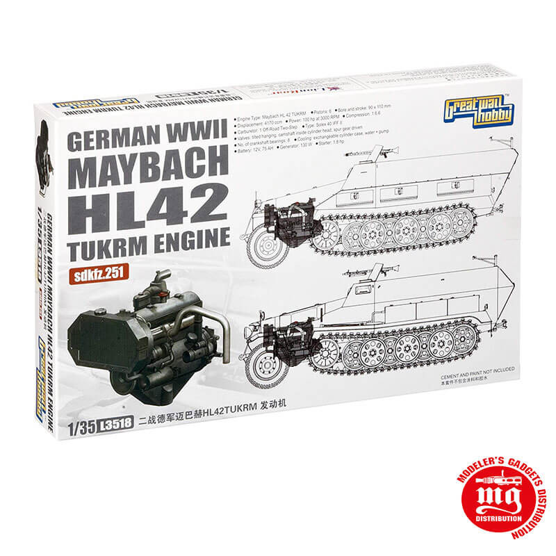 GERMAN WWII MAYBACH HL42 TUKRM ENGINE SDKFZ.251 GREAT WALL HOBBY L3518