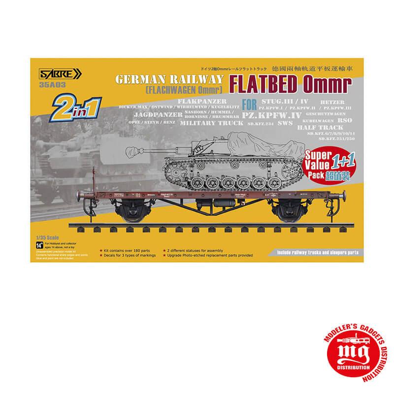 GERMAN RAILWAY FLATBED 0MMR SABRE 35A03