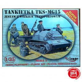 TANQUETA TKS-MG15 CON CARRO DE TRANSPORTE MIRAGE HOBBY 35515