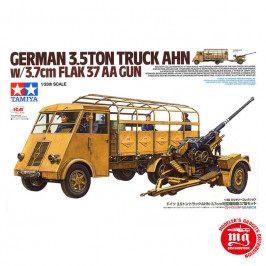 GERMAN 3.5TON TRUCK AHN WITH 3.7CM FLAK 37 AA GUN TAMIYA 32410