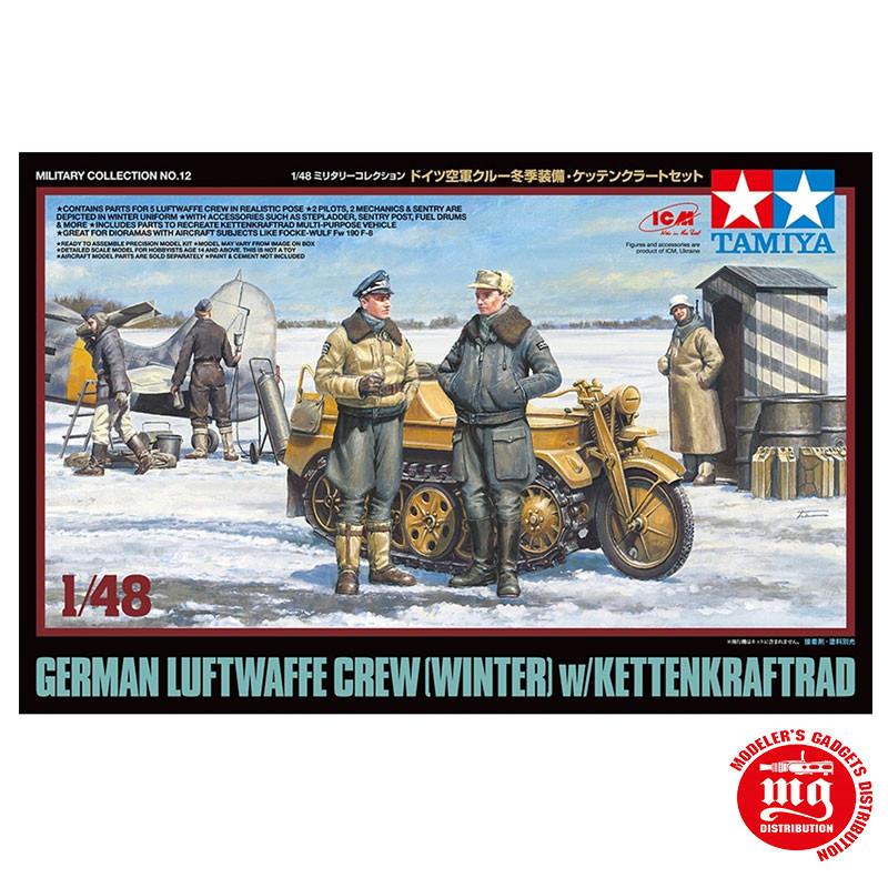 GERMAN LUFTWAFFE CREW WINTER WITH KETTENKRAFTRAD TAMIYA 32412