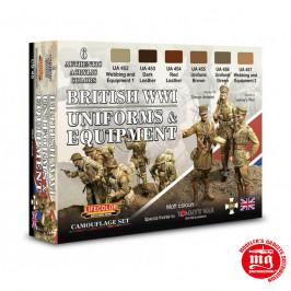 BRITISH WWI UNIFORMS AND EQUIPMENT LIFECOLOR CS45