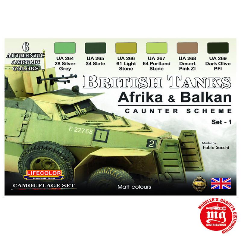 BRITISH TANKS AFRIKA ANS BALKAN LIFECOLOR CS43