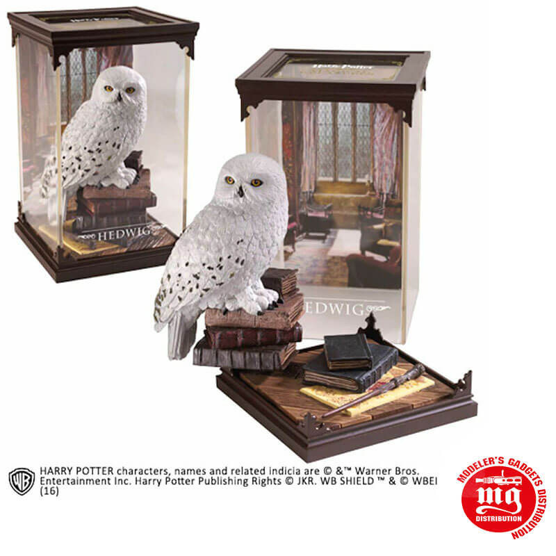 FIGURA LECHUZA HEDWIG MAGICAL CREATURES HARRY POTTER