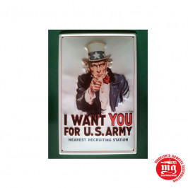 CARTEL METALICO TIO SAM I WANT YOU 3D