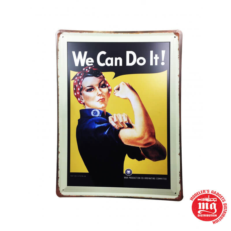 CARTEL METALICO WE CAN DO IT