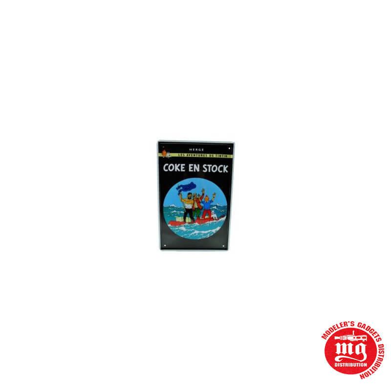 CARTEL METALICO TINTIN COKE EN STOCK