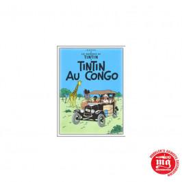 CARTEL METALICO LAS AVENTURAS DE TINTIN EN EL CONGO