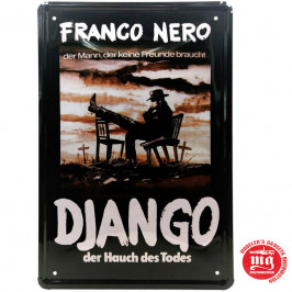CARTEL METALICO DJANGO