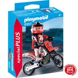 PLAYMOBIL PILOTO MOTOCROSS PLAYMOBIL 9357