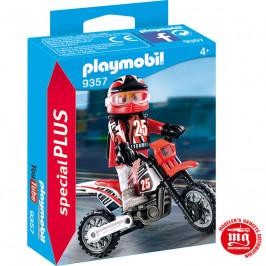PLAYMOBIL PILOTO MOTOCROSS PLAYMOBIL 9357