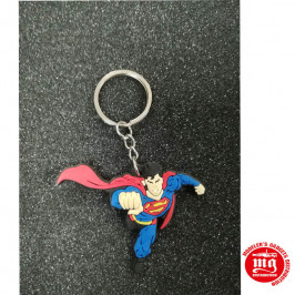 LLAVERO SUPERMAN DC COMICS CAUCHO