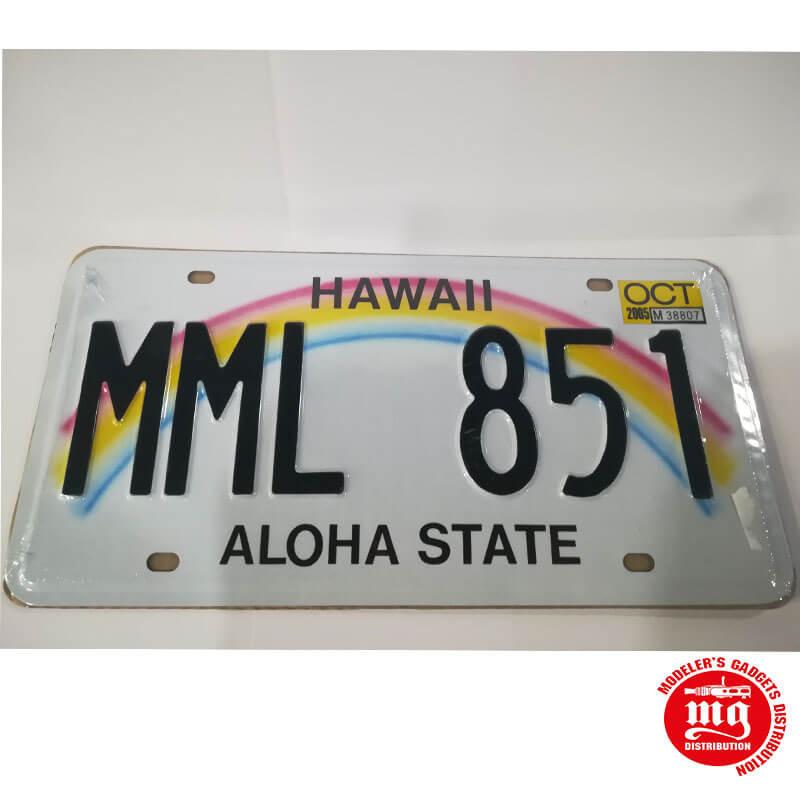 CARTEL METALICO HAWAII