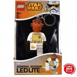 LLAVERO ADMIRAL ACKBAR LEGO STAR WARS CON LUZ LED LEGO 812980L