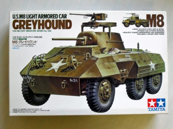US M8 LIGHT ARMORED CAR GREYHOUND