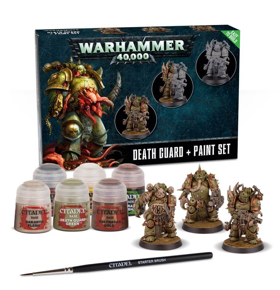 DEATH GUARD PAINT SET WARHAMMER 40000