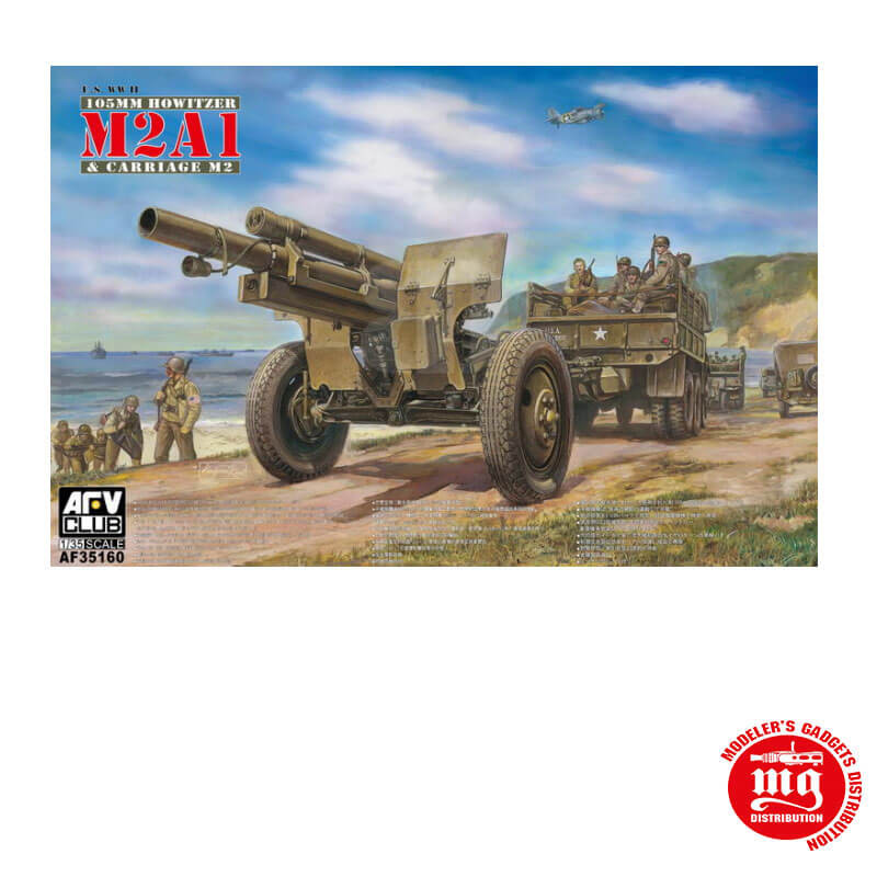 105 mm HOWITZER M2A1 AND CARRIAGE M2 AFV CLUB AF35160